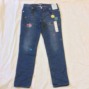 Girls Cat and Jack patch work Jeggings